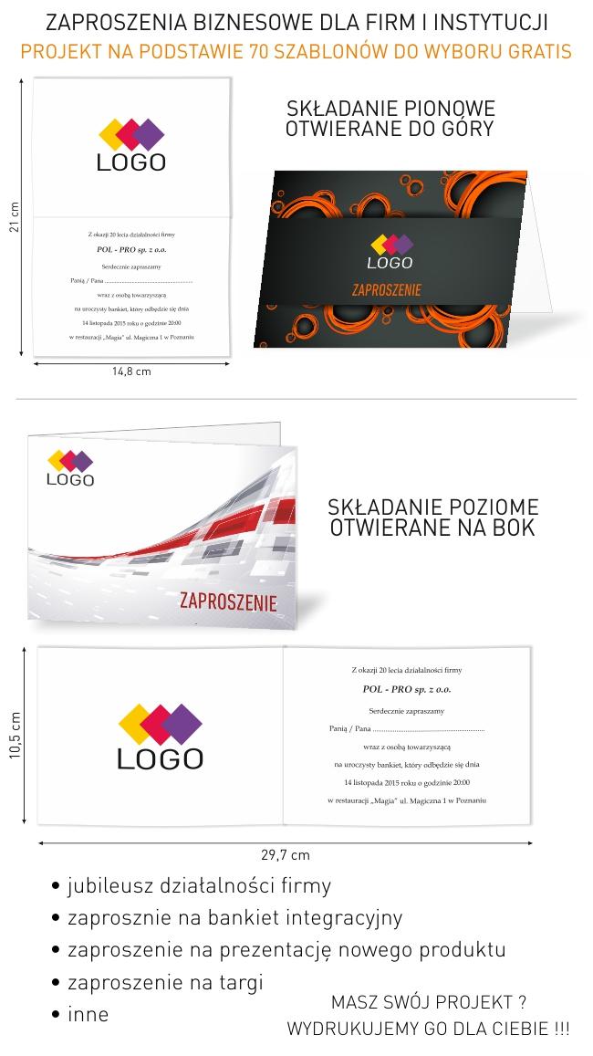 Zaproszenia Biznesowe Dla Firm I Instytucji Projekt Gratis Drukbox